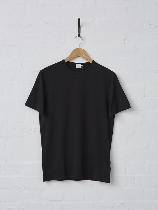 Sunspel Men's Cotton T-Shirt (Black)
