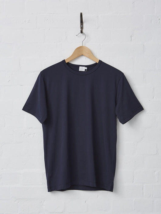 Sunspel Men's Cotton T-Shirt (Navy)