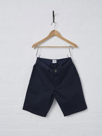 Sunspel Men's Cotton Twill Chino Short (Navy)