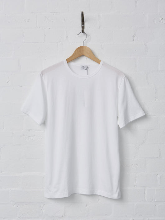 Sunspel Men's Cotton T-Shirt (White)