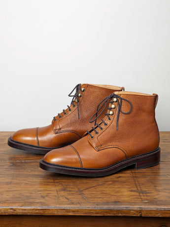 Alfred Sargent Cambridge Calf Derby Boot (Tan Grain)