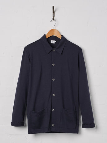 Sunspel Men's Vintage Wool Jacket (Navy)