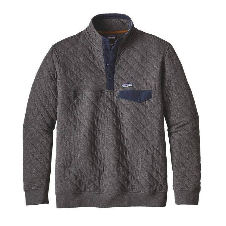 Men's Patagonia Cotton Quilt Snap-T Pullover - Forge Grey