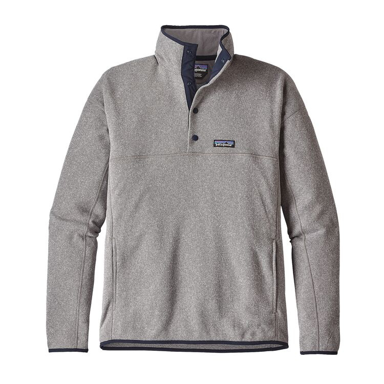 Patagonia Men's Lightweight Better Sweater Marsupial Fleece Pullover- Feather Grey