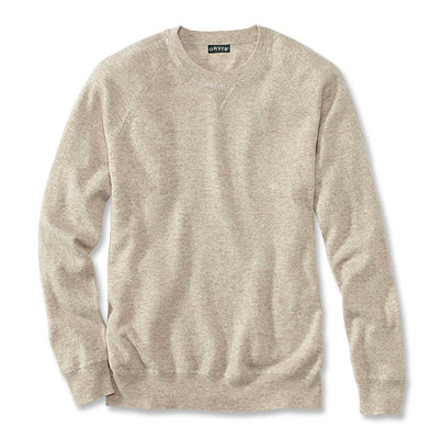 Orvis - Wool/Cashmere Notch Crew Sweater - Oatmeal