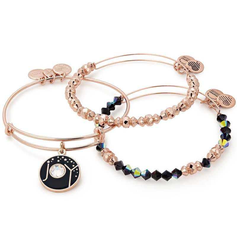 Alex & Ani - Joy Set of 3 - Sterling Rose Gold