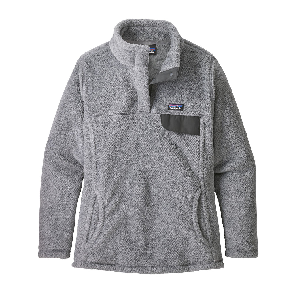 Patagonia Girls' Re-Tool Snap-T® Fleece Pullover- Tailored Grey - Nickel X-Dye w/Tailored Grey