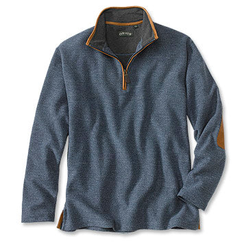 Orvis Simoom Tweed Quarter-Zip Sweatshirt - Olive