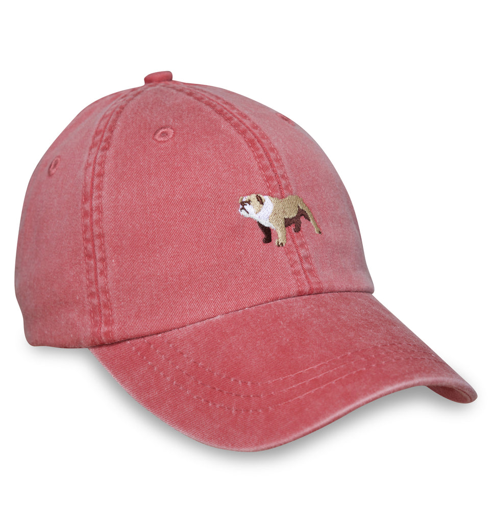 Bird Dog Bay - Embroidered Cap Bulldog - Red