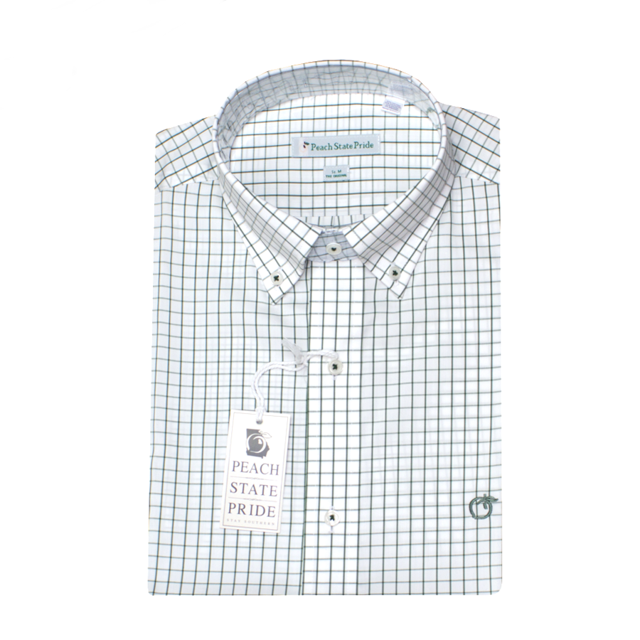 Boys - Shallowford Performace Button Down - Sage