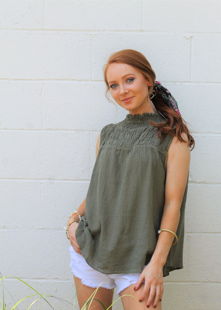 Sadie Top - Olive
