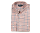 Southern Marsh - Idlewild Performance Gingham Dress Shirt - Slate & Peach