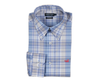 Southern Marsh - Kershaw Performance Plaid Dress Shirt - French Blue and Gray