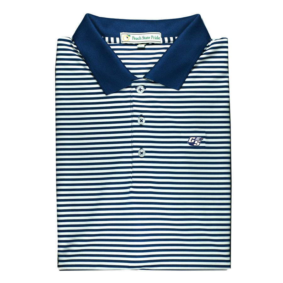 GSU Knit Collar Performance Polo