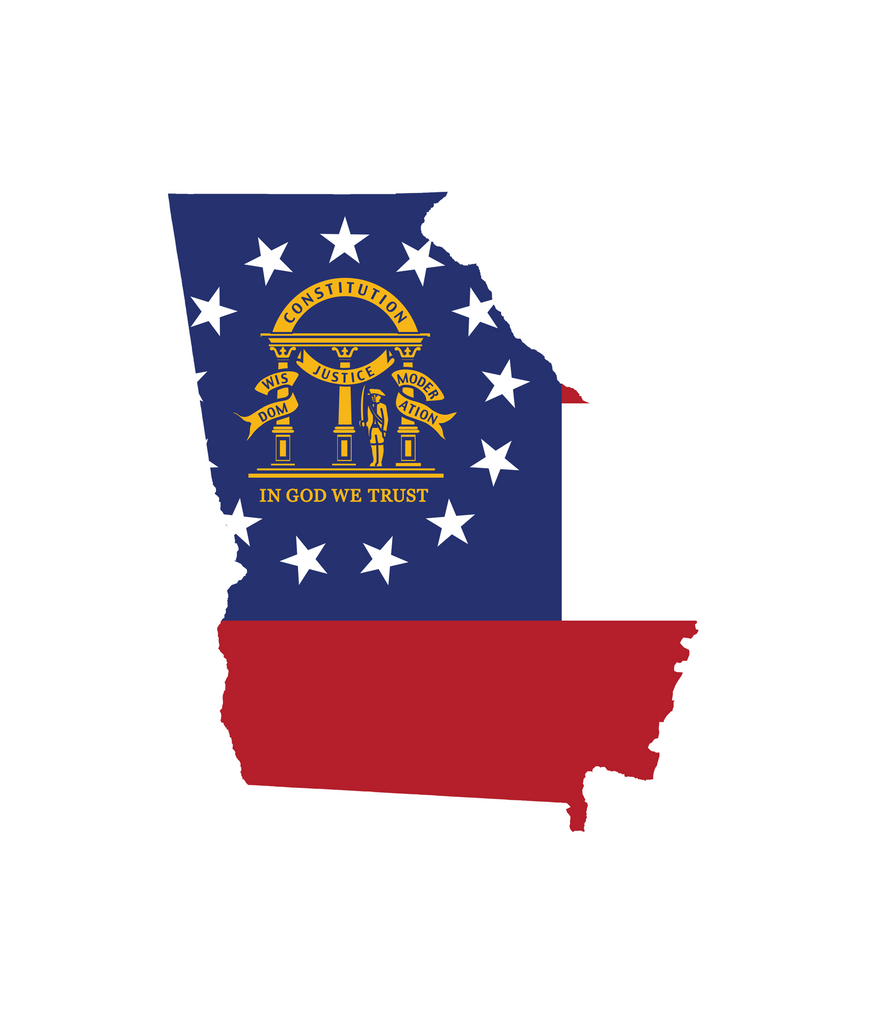 State of Georgia Flag Decal