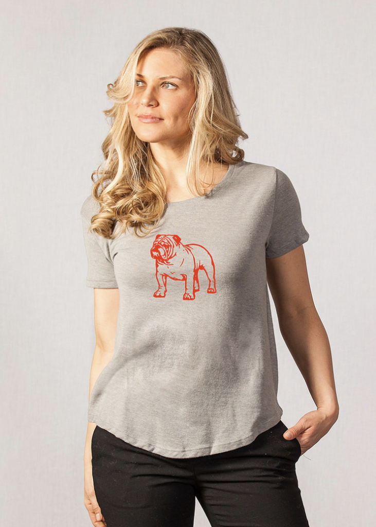 Stewart Simmons - Bulldog Tee - Gray with Red