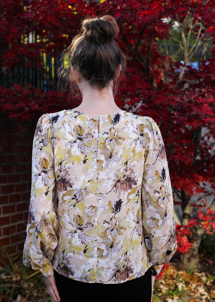 Watercolor Floral Blouse