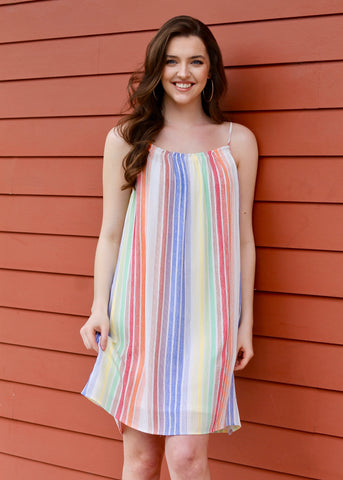 Streets Of Havana Stripe Maxi Dress