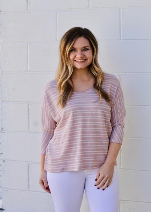 Zoey Stripe Top - Pink