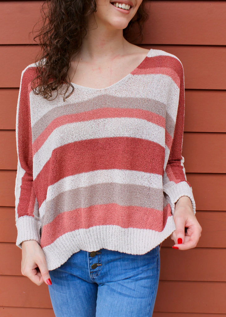 Over The Rainbow Striped Sweater