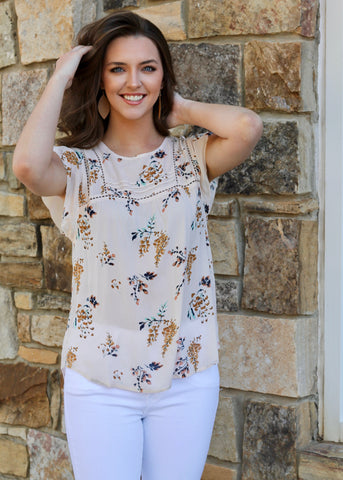 Just Peachy V-Neck Top - Peach