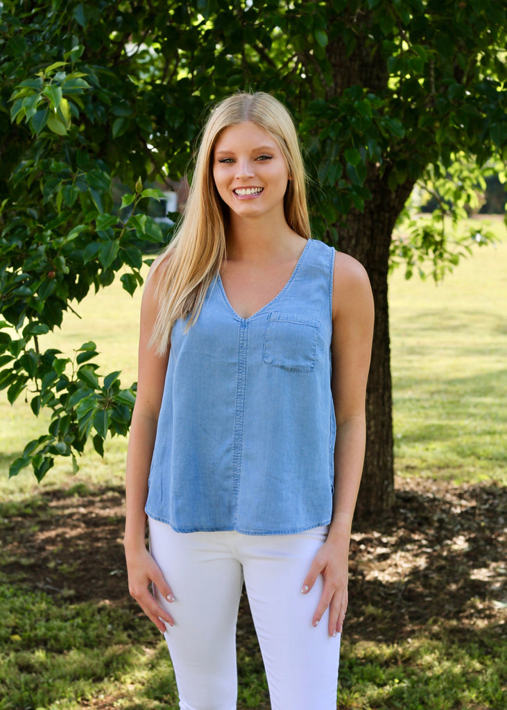 Gianna Top - Denim