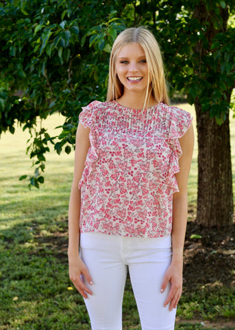 Dani Button Down Top- Ecru