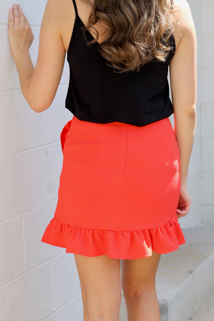 Solid Wrap Skirt
