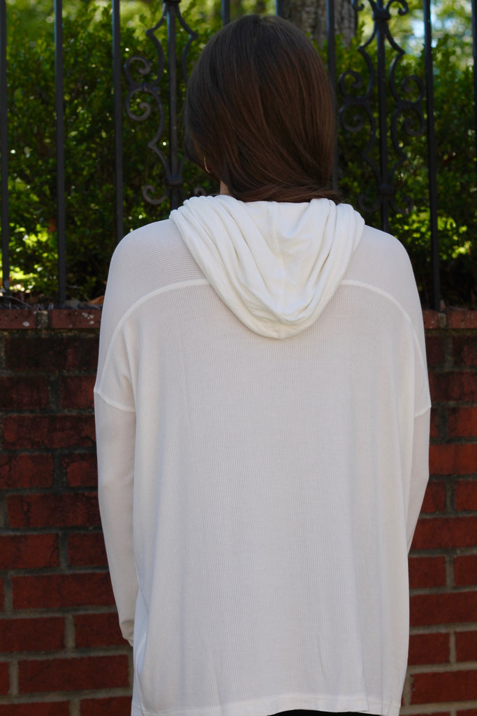 Knit Your Day Job Ribbed Cowl Neck Top