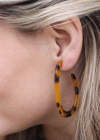 Betsy Pittard - Addi - Brown Resin Hoops