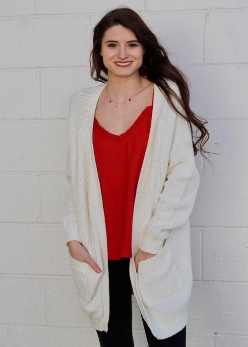 Santa Cruz Long Cardigan - Ivory