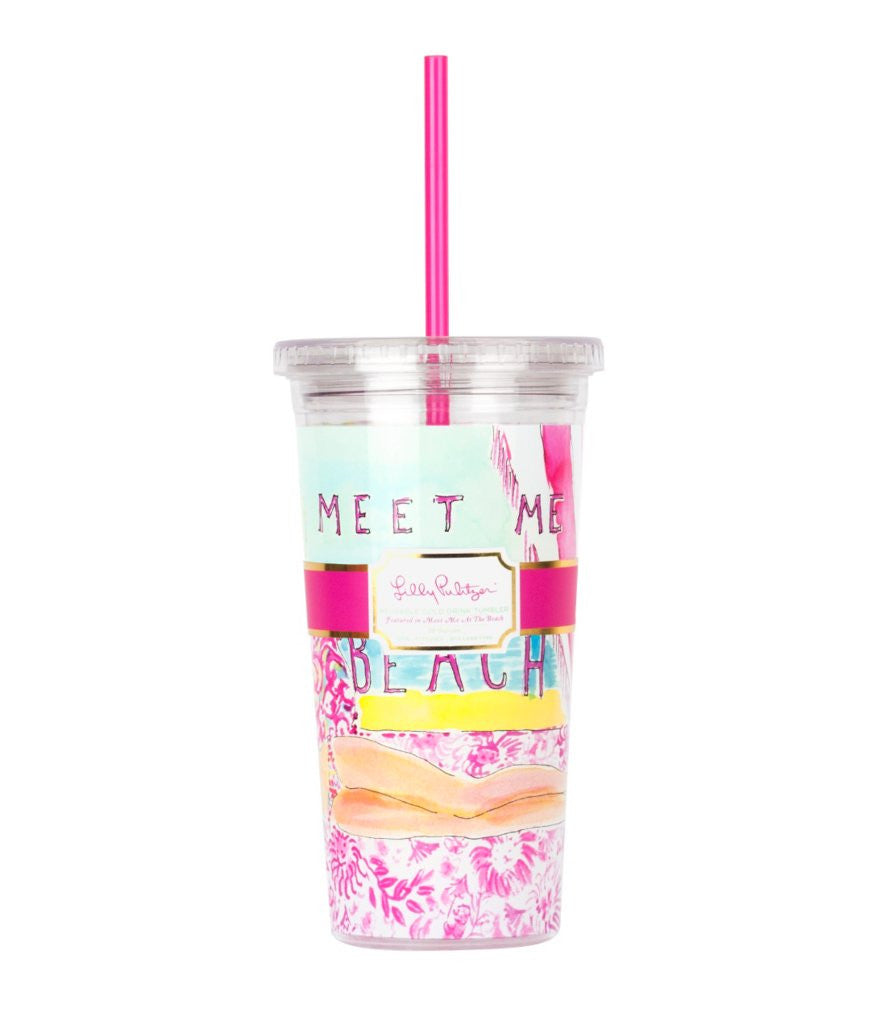 Lilly Pulitzer Cold Drink Tumbler in Meet Me At The Beach