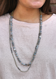 Lovely Layers Necklace - Blue