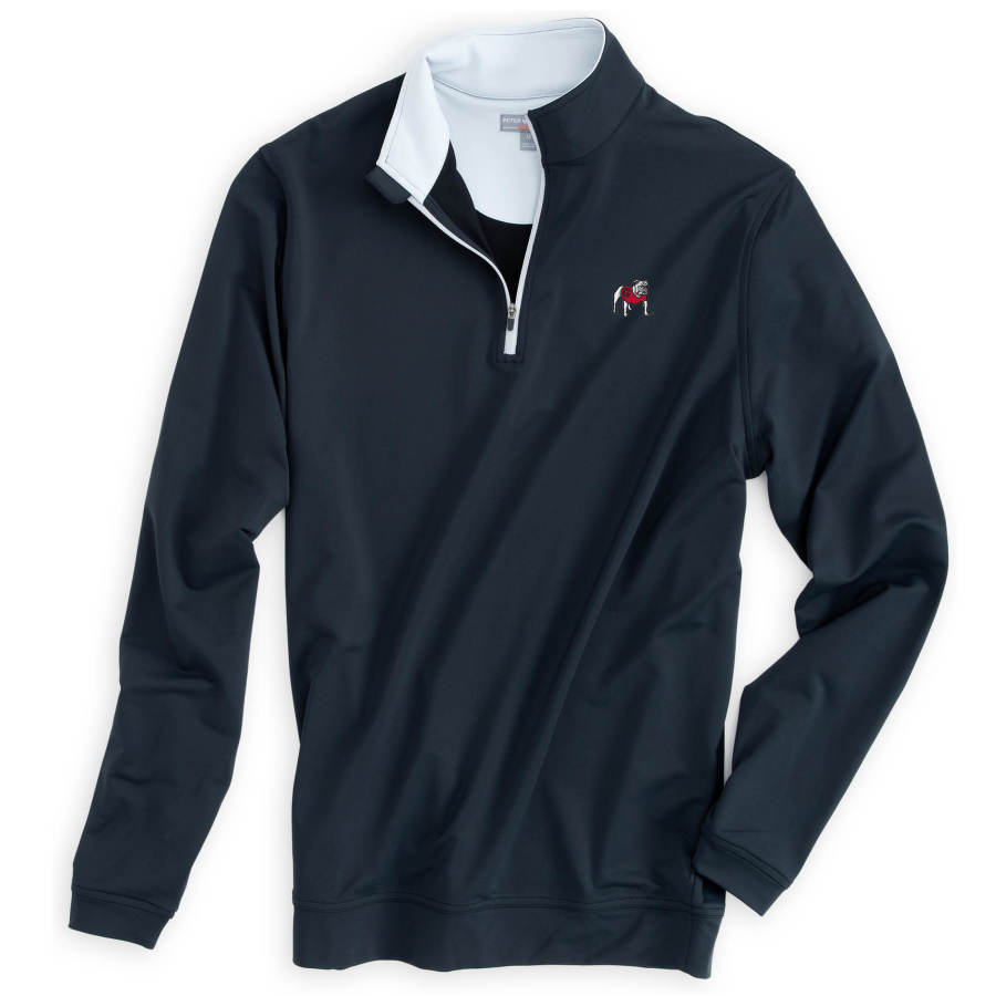 UGA Perth Performance Pullover - Standing Bulldog - Black