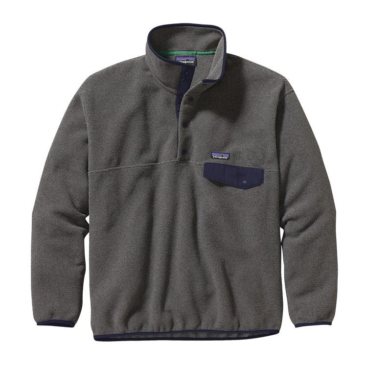 Men's Patagonia - Synchilla Snap-T Pullover -Nickel w/ Navy Blue
