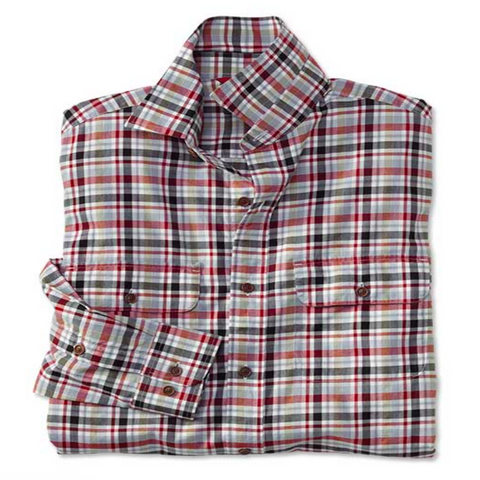 Orvis - Pinpoint Oxford Shirt - Red, White, and Blue