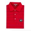 Peter Millar - UGA Super G Campus Stripe Polo - Red/Black