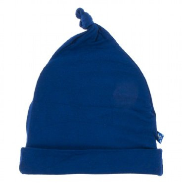 Kickee Pants - Basic Knot Hat - Flag Blue - Newborn-3 Months