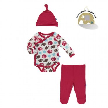 Kickee Pants - Solid Muffin Ruffle Coverall with Zipper - Strawberry with Pistachio
