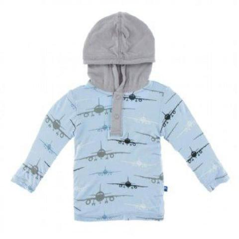 Kickee Pants - Print Hoodie Tee - Natural Cars and Trucks