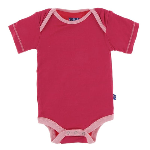 Sapling- Blushing Orbit Zip Romper- Pink/White