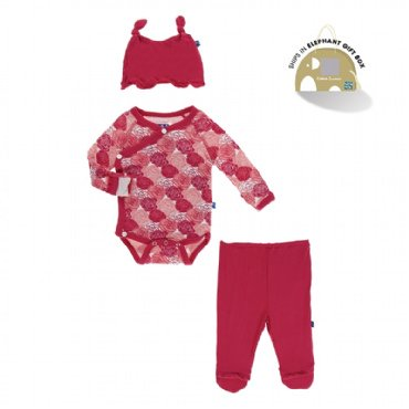 Kickee Pants - Kimono Newborn Gift Set - Natural Sports