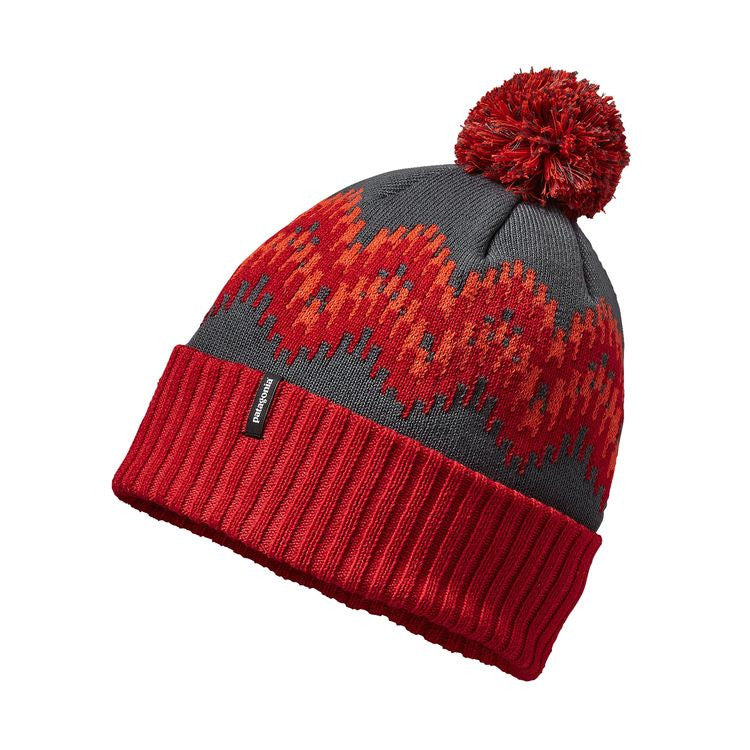 Patagonia Powder Town Beanie - Timber Stripe: French Red