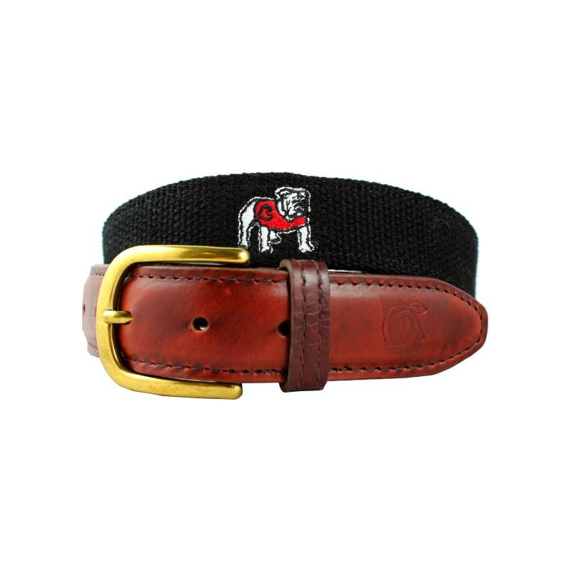 University of Georgia Embroidered Belt