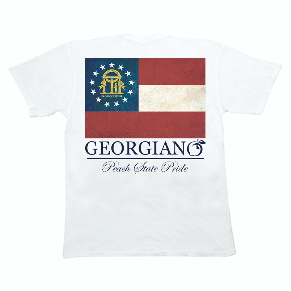 Georgia Flag Pocket Tee