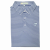 Performance Polo - Self Collar- Navy and White Classic Stripe