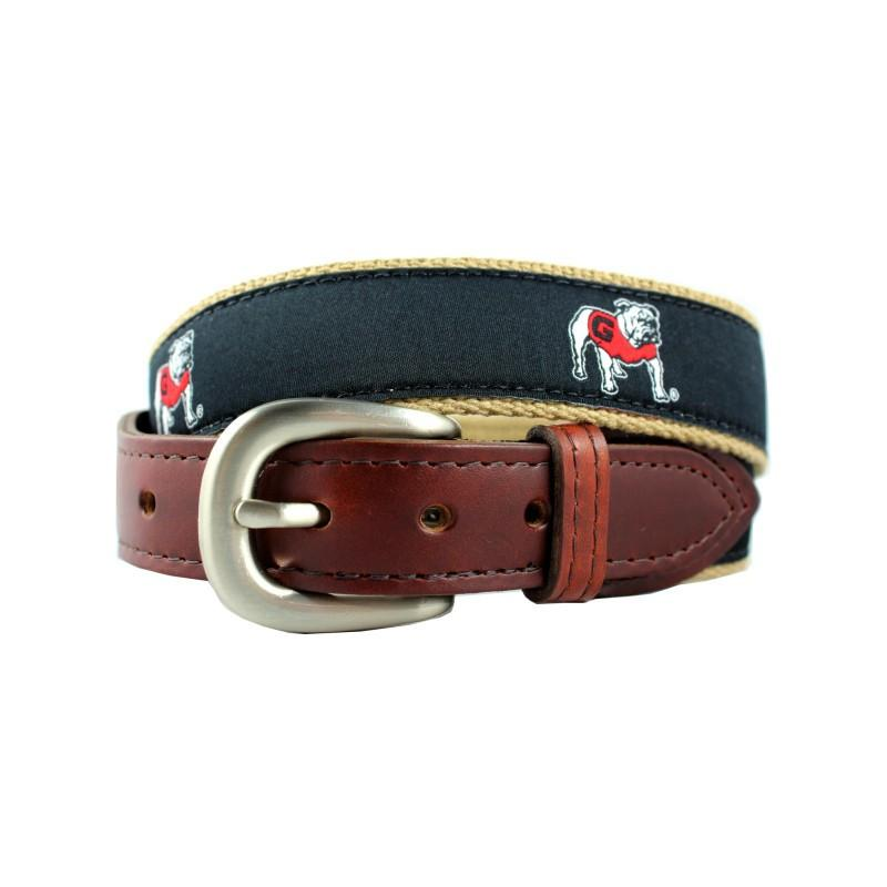 UGA Ribbon Belt