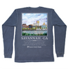 Savannah Skyline Long Sleeve Pocket Tee