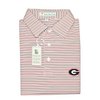 UGA Super G Georgia Birch Stripe Polo - Self Collar