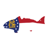 Redfish Flag Sticker